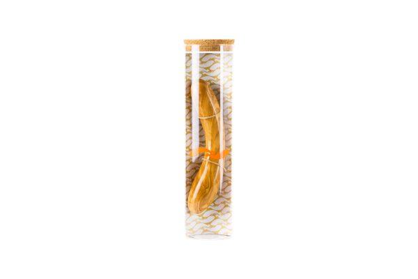 Holzdildo Olive Glasverpackung beneLIGNI