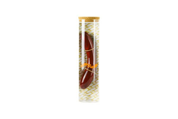 Holzdildo Padouk Glasverpackung beneLIGNI